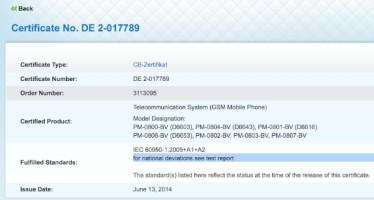 Sony Xperia Z3 прошел сертификацию. Дата выхода: сентябрь 2014