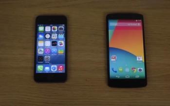 Тест скорости: iPhone 5S iOS 8 против Nexus 5 на Android 4.4.3