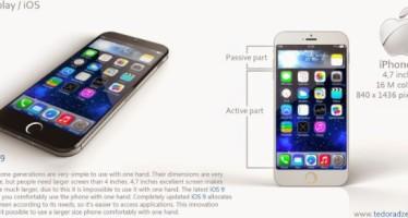 Концепт дизайна iPhone 6 с iOS 9