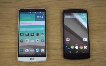 Обзор: Android L на Google Nexus 5 против LG G3