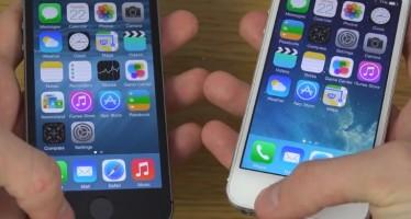 Тест скорости iOS 8 и iOS 7.1.2 на iPhone 5S
