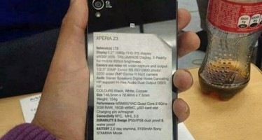 Официальные характеристики Sony Xperia Z3