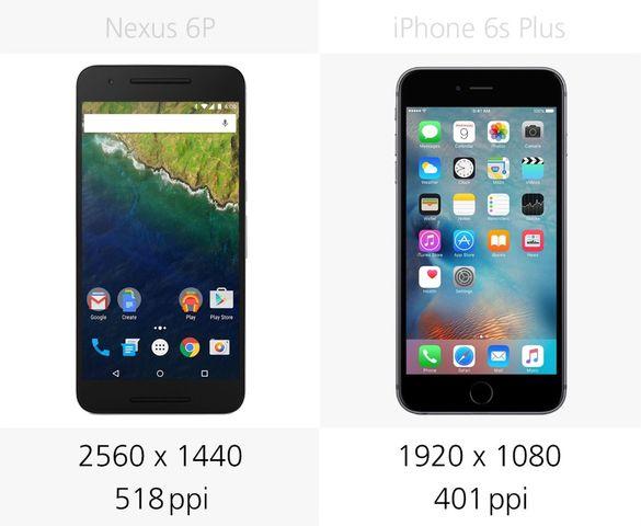 Сравнение смартфонов: Nexus 6P и iPhone 6s Plus