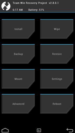как сделать backup android через recovery