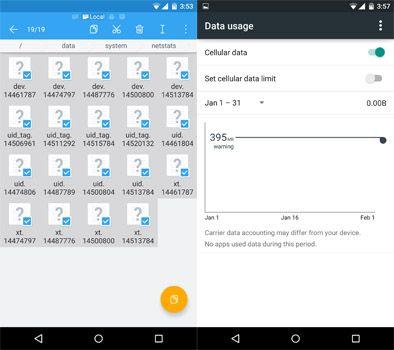 Как обнулить статистику передачи данных на Android