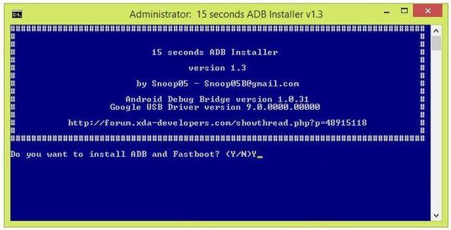 Как установить ADB и Fastboot за 5 секунд