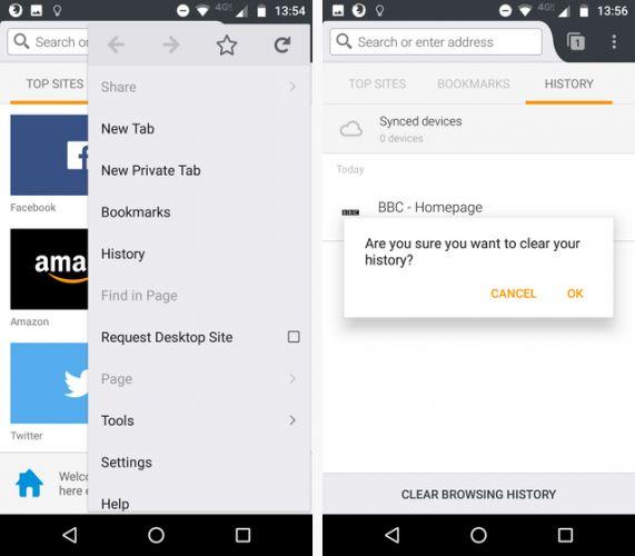 Как очистить историю поиска на телефоне андроид