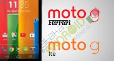 Motorola Moto G LTE и Motorola Moto Ferrari G в новом облике