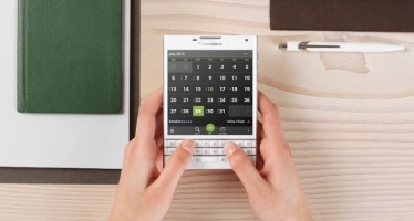 BlackBerry Passport в белом цвете