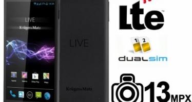 Представляем смартфон android Kruger & Matz LIVE 2 LTE с экраном 5 и 4 ядерным SC.