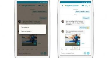 Обновленный Skype для Android умеет сохранять видеосообщения