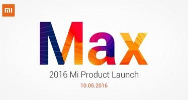 Xiaomi проведет презентацию 10 мая: смартфон Xiaomi Max, фитнес-трекер Mi Band 2 и новая версия MIUI 8