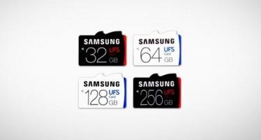 Представлена карта памяти Samsung UFS с самой быстрой скоростью чтения/записи