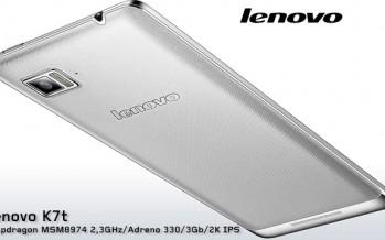 Lenovo K7T Kingdom: новый флагман с 2К дисплеем