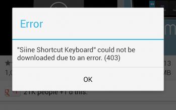 Ошибка 403 андроид как исправить