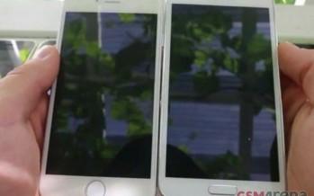 Фото iPhone 6 в сравнении с Samsung Galaxy S5