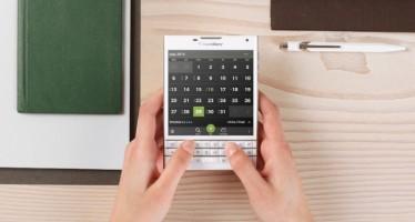 BlackBerry Passport в белом цвете