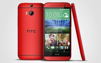 Капля гламура от HTC /  Розовый и красный цвет для HTC One M8