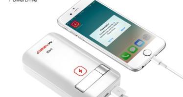 MAZZO PowerDrive: накопитель+батарея для iPhone/iPad.