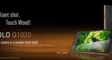 Смартфон Xolo Q1020 получил деревянную отделку.