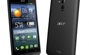 Acer представила два смартфона Liquid E600 и Liquid E700