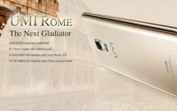 UMI Rome — смартфон с 3 Гб оперативной памяти за 89$