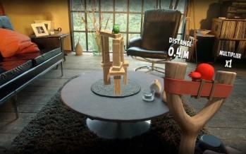 Angry Birds под iOS в дополненной реальности