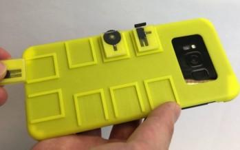 Необычный чехол с физическими кнопками-модулями